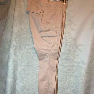 Pink skinny boyfriend cargo pants